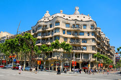 barcelona casa losu angeles mila Pedrera Spain Obraz Stock