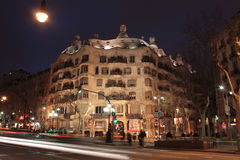 Barcelona, Casa Mila Royalty Free Stock Photo