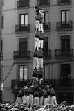 barcelona castel istota ludzka góruje Obraz Royalty Free