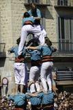 barcelona castellers Royaltyfria Bilder