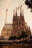 Barcelona. Catalonië, Spanje. Uitstekende retro stijl Royalty-vrije Stock Afbeeldingen
