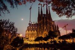 Barcelona. Catalonië, Spanje. Uitstekende retro stijl Stock Foto