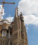 BARCELONA/CATALONIA, ESPAÑA: Iglesia de la familia sagrada Foto de archivo libre de regalías