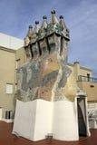 Dragon terrace of the Casa Batllo building in Barcelona Stock Photos