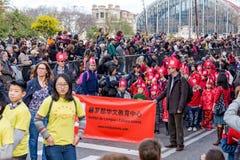 barcelona Catalonia Spain 04 Feb st, 2017 Uczestnicy th Fotografia Stock