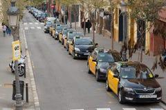 Taxi in Barcelona, Spain Stock Image