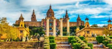 Barcelona, Catalonia, Spain: the Palau National, National Palace, National Art Museum of Catalonia Stock Photos