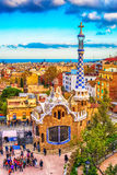 Barcelona, Catalonia, Spain: the Park Guell of Antoni Gaudi Stock Images