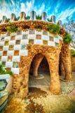 Barcelona, Catalonia, Spain: the Park Guell of Antoni Gaudi Royalty Free Stock Photos