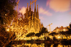 Barcelona. Catalonia, Spain. Vintage retro style Royalty Free Stock Photos
