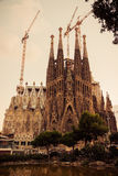 Barcelona. Catalonia, Spain. Vintage retro style Royalty Free Stock Images
