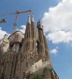 BARCELONA/CATALONIA, SPANJE - Augustus 22, 2013: Kerk van Heilige familie royalty-vrije stock foto's