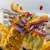 Barcelona, Cataluña, España 4 de febrero de 2017 Dragón del participante Fotografía de archivo libre de regalías