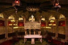 barcelona catedral crypt Arkivbilder