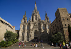 Barcelona Cathedral royalty free illustration