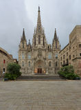 Barcelona Cathedral. Cathedral of Barcelona without any people Royalty Free Stock Photo