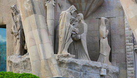 Barcelona cathedral Cathedral Statues - Spain Stock Image