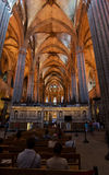 Barcelona Cathedral Church. Catedral de la Santa Cruz y Santa Eulalia Stock Images