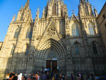 Barcelona Cathedral. Exterior of Barcelona Cathedral,  Barcelona, Spain Stock Photography