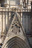 Barcelona cathedral facade details Royalty Free Stock Photos