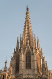 Barcelona cathedral facade details Stock Photos