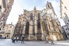 Barcelona Cathedral in Gothic Quarter Royalty Free Stock Photo