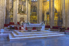 Barcelona Cathedral Interior, Catalonia, Spain Stock Photo