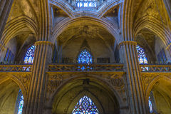 Barcelona Cathedral Interior, Catalonia, Spain Royalty Free Stock Photography