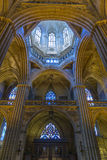 Barcelona Cathedral Interior, Catalonia, Spain Royalty Free Stock Image