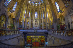 Barcelona Cathedral Interior, Catalonia, Spain Stock Image