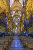 Barcelona Cathedral Interior, Catalonia, Spain Stock Photos