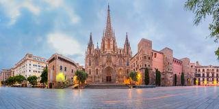 Barcelona Cathedral in the morning, Spain Royalty Free Stock Images