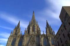 Barcelona Cathedral rooftop Royalty Free Stock Photo