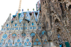 Barcelona cathedral or Sagrada Familia Cathedral - Spain Royalty Free Stock Photos