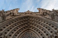 Barcelona Cathedral of Santa creu and Saint Eulalia, patron saint of Barcelona Stock Image