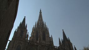 Barcelona Cathedral,Barcelona,Spain stock video