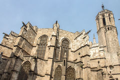 Barcelona Cathedral Spain Stock Photography