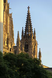 Barcelona Cathedral at sunset Royalty Free Stock Images