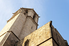 Barcelona cathedral tower. Royalty Free Stock Images