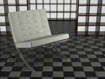 Barcelona Chair In Studio Royalty Free Stock Images
