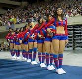 Barcelona cheerleaders Royalty Free Stock Photography