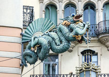 Free Barcelona. Chinese Dragon On House Of Umbrellas Casa Bruno Cuad Royalty Free Stock Image - 84499496