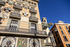 Free Barcelona. Chinese Dragon On House Of Umbrellas (Casa Bruno Cuadros) Building On La Rambla Stock Image - 76827511