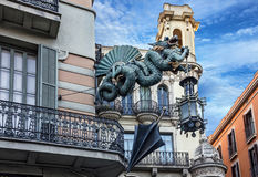 Free Barcelona. Chinese Dragon On House Of Umbrellas, Spain Royalty Free Stock Images - 79245379