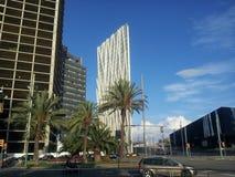 Barcelona choveu Imagens de Stock