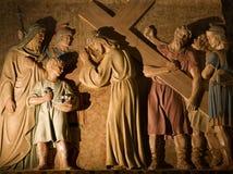 barcelona christ kors Royaltyfria Bilder