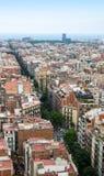 Barcelona city. Aerial view of Barcelona city stock photo
