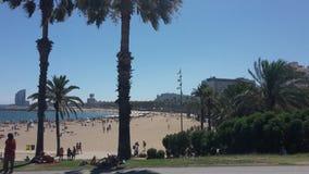 Barcelona City Beach. La Playa de Barcelona Sunshine stock images