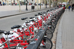 Barcelona city bikes Stock Photos