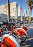 Barcelona city bikes Royalty Free Stock Photos